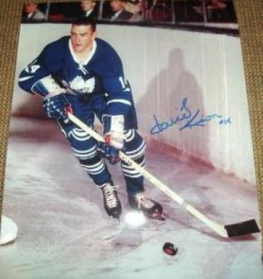 Dave Keon autographed Toronto Maple Leafs 8x10 photo