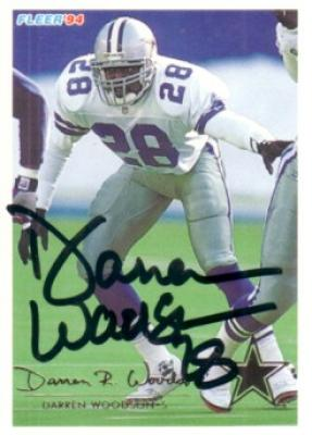 Darren Woodson autographed Dallas Cowboys 1994 Fleer card