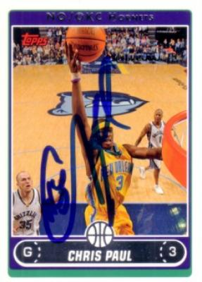 Chris Paul autographed New Orleans Hornets 2006-07 Topps card
