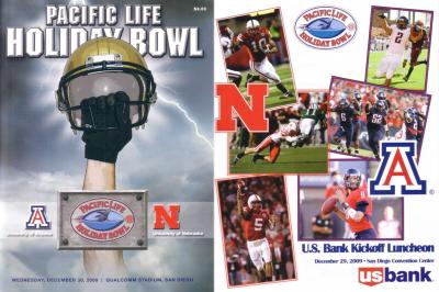 2009 Holiday Bowl program (Nebraska 33 Arizona 0; Ndamukong Suh last game)
