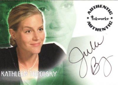 Julie Benz Roswell certified autograph card