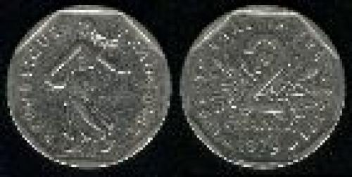 2 francs; Year: 1979-1998; (km 942.1)