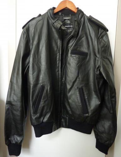 Vintage 1980s MEMBERS ONLY Men's Black Leather Jacket