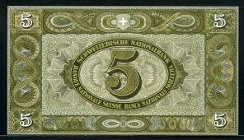 Banknotes; Switzerland 1951; 5Franken