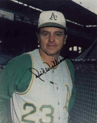 Dick Williams autographed Oakland A&#039;s 8x10 photo