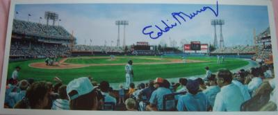 Eddie Murray autographed Baltimore Orioles Memorial Stadium postcard