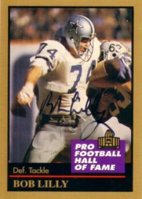 Bob Lilly autographed Dallas Cowboys 1991 Pro Football Hall of Fame card