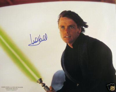 Mark Hamill autographed Star Wars Luke Skywalker 16x20 poster