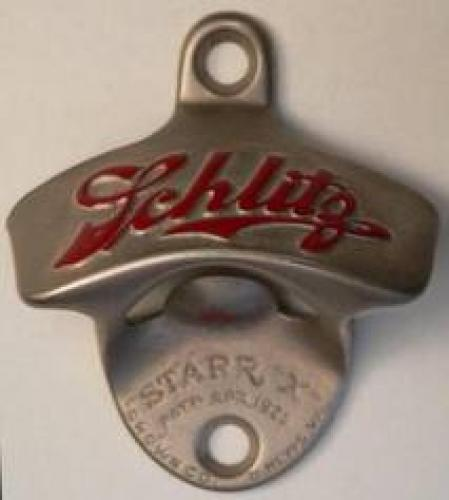 Vintage Schlitz beer bottle opener.