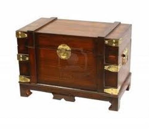 Antiques;  Decorative antique chest
