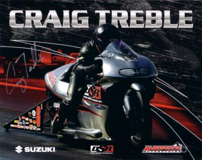 Craig Treble (NHRA) autographed 8x10 photo card