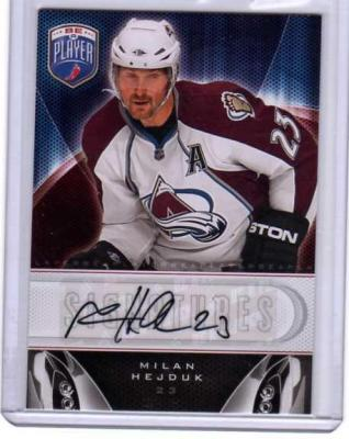 Milan Hejduk certified autograph Colorado Avalanche 2009-10 Be A Player card