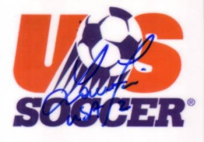 Lorrie Fair autographed US Soccer logo card