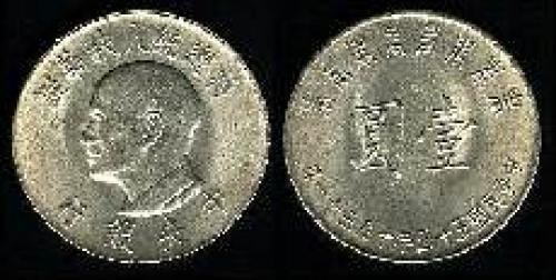1 yuan; Year: 1966; (km y#543)