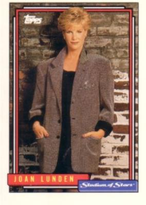 Joan Lunden 1992 Topps Stadium of Stars card