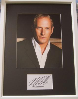Michael Bolton autograph matted & framed with 8x10 photo