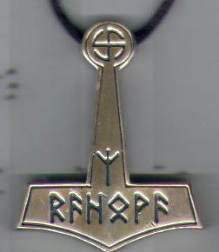 Pewter Thors hmmer pendant