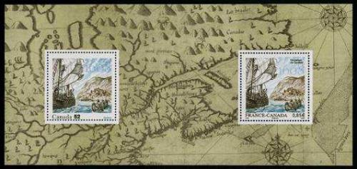 Founding of Quebec s/s, joint issue France