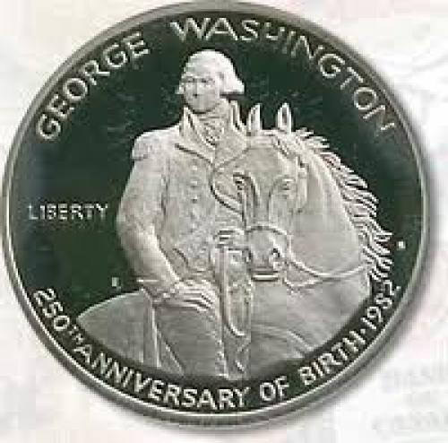 Coins; USA 1982 George Washington Silver 50 Cent