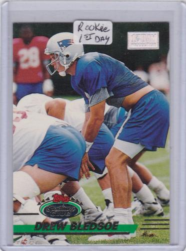1993 STADIUM CLUB ROOKIE FIRST DAY PRODUCTION RC DREW BLEDSOE NEW ENGLAND PATRIOTS ROOKIE