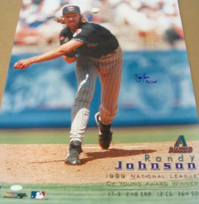 Randy Johnson autographed Arizona Diamondbacks 16x20 poster size photo inscribed Big Unit (Steiner)