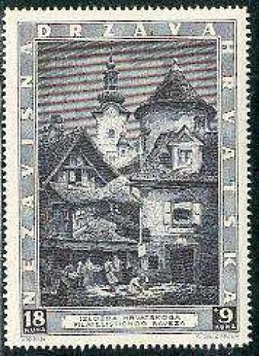 Zagreb philatelic exposition 1v; Year: 1943