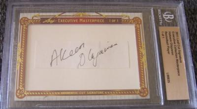Akeem (Hakeem) Olajuwon certified autograph 2011 Leaf Executive Masterpiece Cut Signature card #1/1