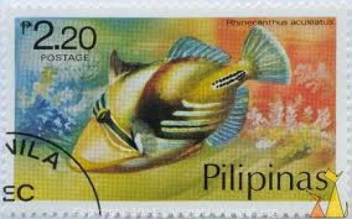 2.20 Pesos; Picasso triggerfish, Pilipinas stamp