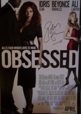 Idris Elba autographed Obsessed movie poster