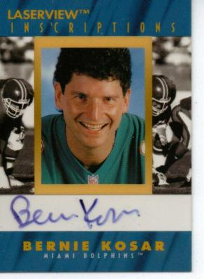 Bernie Kosar certified autograph 1996 Pinnacle Inscriptions card
