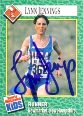 Lynn Jennings autographed 1990 Sports Illustrated for Kids card