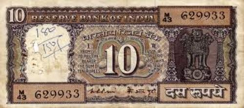 Banknotes; 10 Indian Rupee: Mahatma Ghandi