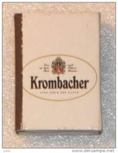 Matchboxes; KROMBACHER BEER Design