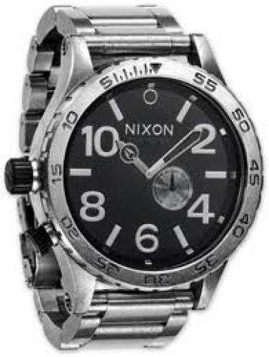 Watches; Nixon 51-30 Tide Watch - antique silver/black 