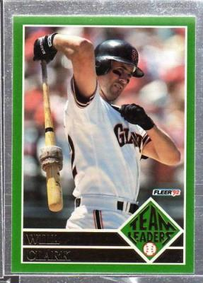 Will Clark 1992 Fleer Team Leaders insert card #8
