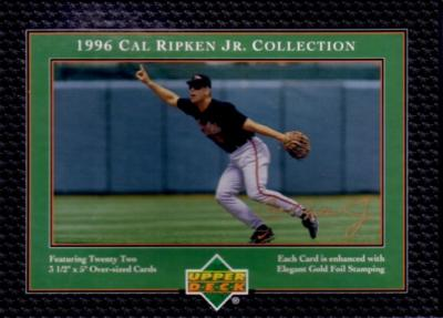 Cal Ripken Collection 1996 Upper Deck 22 card oversized boxed set