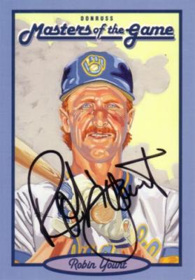 Robin Yount autographed Milwaukee Brewers 1993 Donruss Masters of the Game card