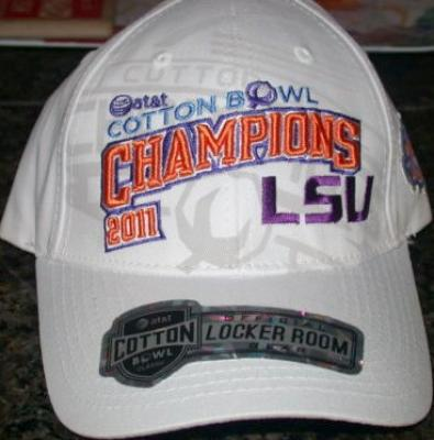 LSU Tigers 2011 Cotton Bowl Champions official locker room cap or hat