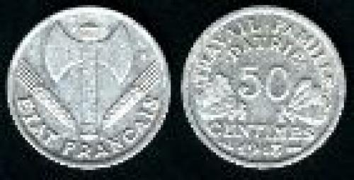 50 centimes; Year: 1942-1944; (km 914)
