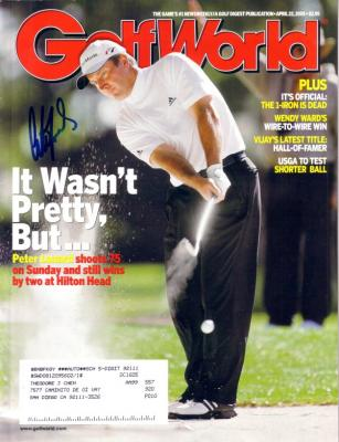 Peter Lonard autographed 2005 Golf World magazine