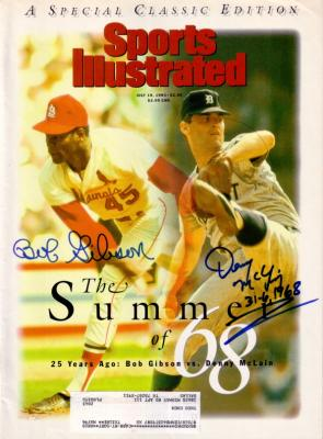 Bob Gibson &amp; Denny McLain autographed 1993 Sports Illustrated