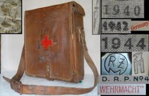 Militaria; WW2 1944 GERMAN ELITE WAFFEN MEDIC FIRST AID BAG