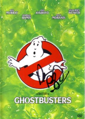 Dan Ackroyd autographed Ghostbusters DVD cover