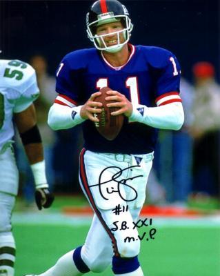 Phil Simms autographed New York Giants 8x10 photo inscribed SB XXI MVP