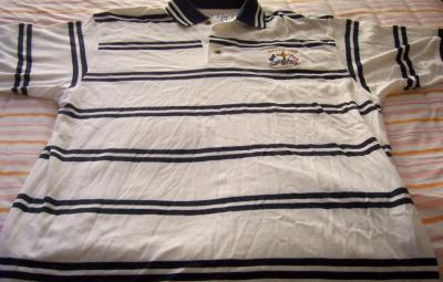 2002 Ryder Cup Cutter & Buck striped golf shirt MEDIUM NEW
