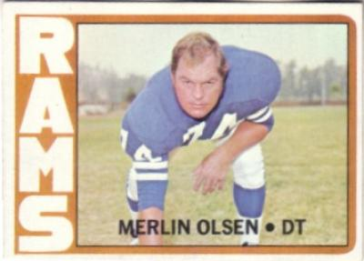 Merlin Olsen Los Angeles Rams 1972 Topps card #181 NrMt