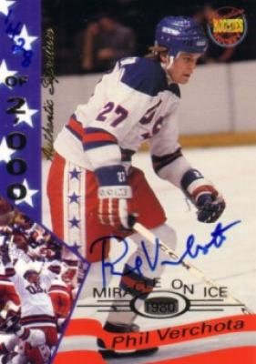 Phil Verchota certified autograph 1980 Miracle on Ice Signature Rookies card