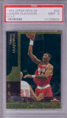Hakeem Olajuwon 1994-95 Upper Deck SE GOLD graded PSA 9 (MINT)