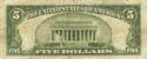 "5 Dollars; Issue of 1934-35, ""Atheist dollars"" (no ""In God we trust"" slogan)"