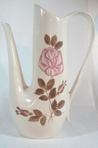 Red Wing Pottery Rose Coffee Pot